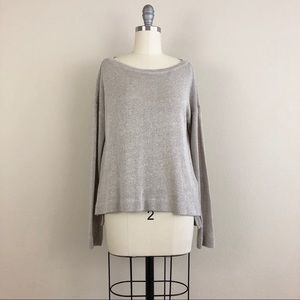 C&C California Boatneck Champagne Shimmer Sweater